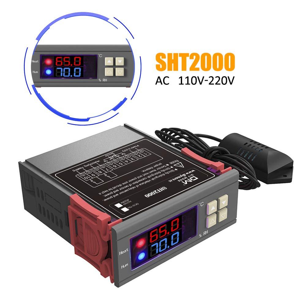 Digital Temperature Controller and Humidity Control Controller Sensor 110v 220v