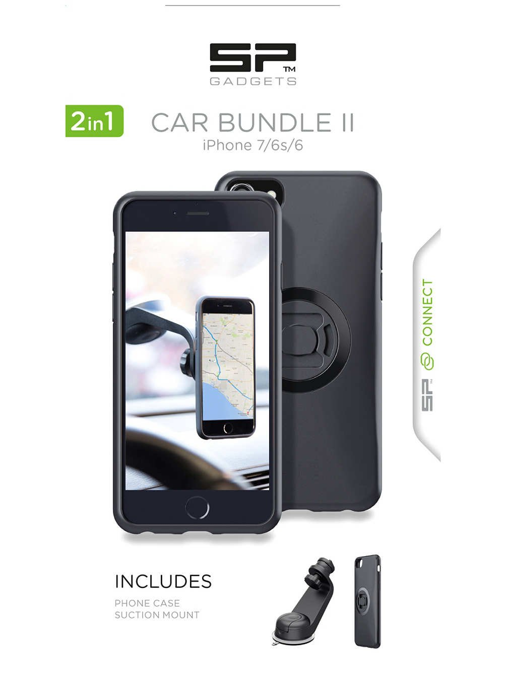 SP-Gadgets Helmkamera SP Connect Car Bundle Ii 7/6S/6