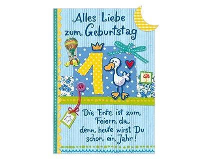 Geburtstagskarte 1 geburtstag