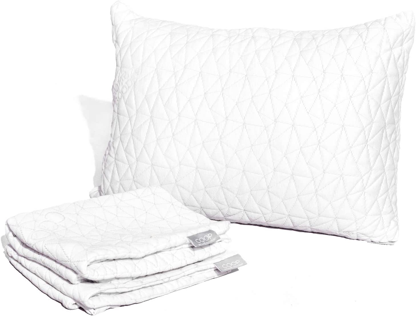 "Coop Home Goods - Breathable Ultra Soft Noiseless Pillowcase - Patented Lulltra Fabric from Bamboo Derived Viscose Rayon and Polyester Blend - Oeko-Tex Certified - King Size 20""x 36"""