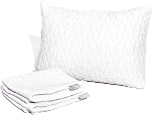 "Coop Home Goods - Breathable Ultra Soft Noiseless Pillowcase - Patented Lulltra Fabric from Bamboo Derived Viscose Rayon and Polyester Blend - Oeko-Tex Certified - Queen Size 20""x 30"""