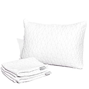 Coop Home Goods - Zippered Pillow Case - Breathable Soft Touch Lulltra Fabric from Bamboo Derived Viscose Rayon and Polyester Blend - Oeko-Tex Certified - King
