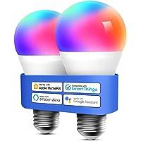 Bombilla LED Multicolor Inteligente WiFi - Regulable, Mando a Distancia, 9W, E27, 2700-6500 K, Compatible con Apple…