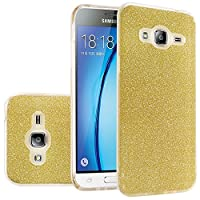 HR Wireless Cell Phone Case for Samsung Galaxy Sky J3 - Gold