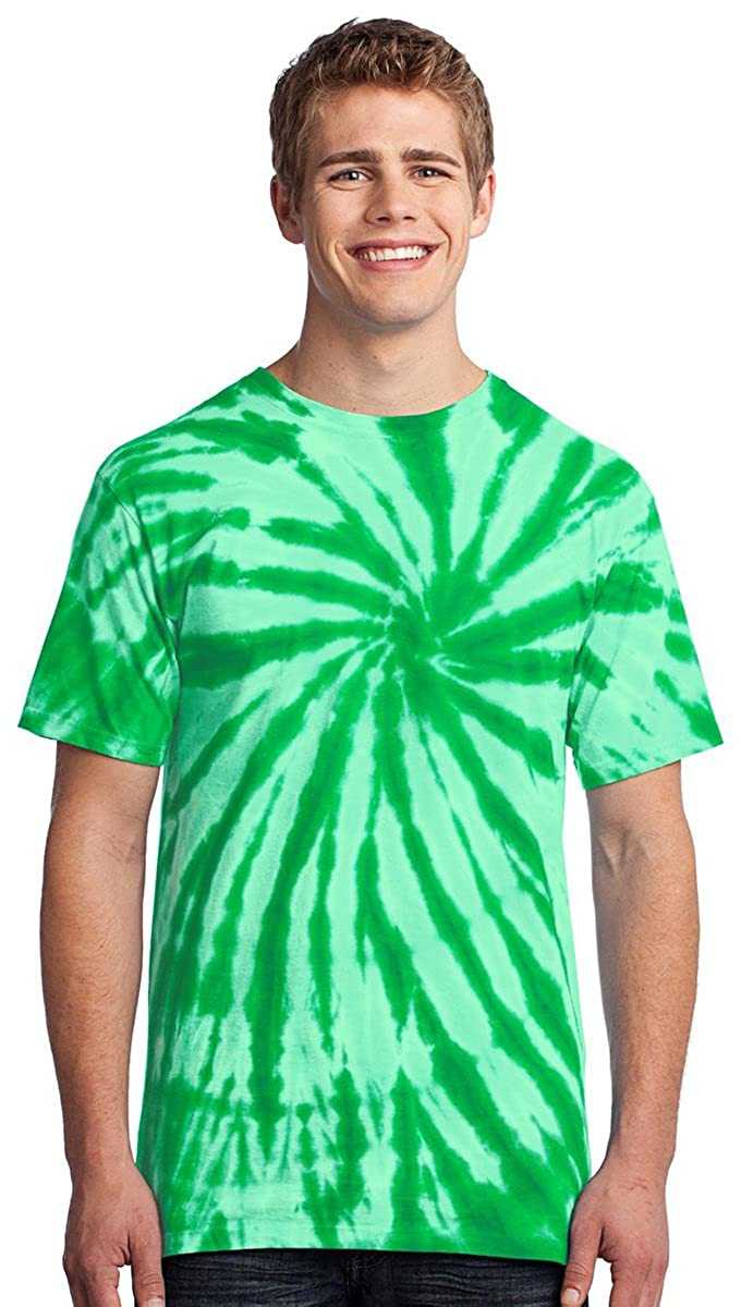 Port /& Company Mens Colorful Tie-Dye Crewneck T-Shirt/_Royal/_Small