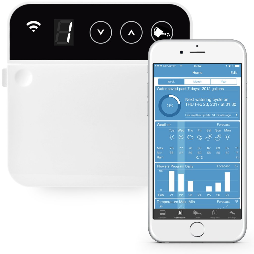 RainMachine Mini-8, Cloud Independent, The Forecast Sprinkler, Wi-Fi Irrigation Controller, 2nd Generation