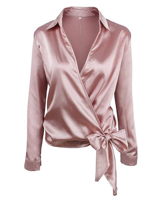 ZhuiKun Mujer Casual Manga Larga Camisetas Blusas Elegantes: Amazon.es: Ropa y accesorios