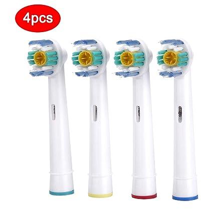 4 cabezales de cepillo de dientes eléctrico de repuesto para Oral B Cerdas Suaves Vitality Dual