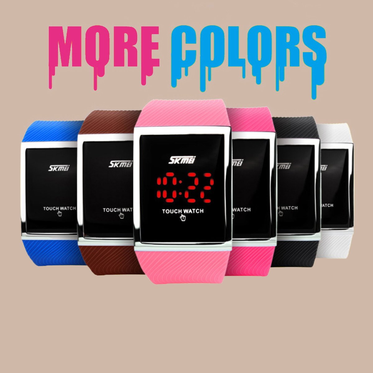 Touch Screen Outdoor Sports Black Watch with LED, Digital for Boys Girls, Above 10 Years Old Kids by FIZILI (Image #4)