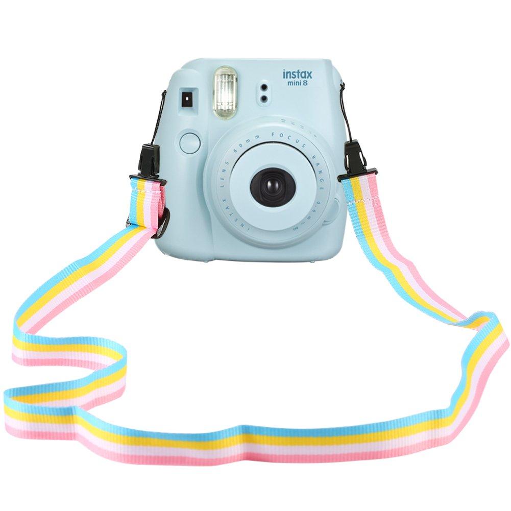 Katia Camera Strap Professional Shoulder Strap for Fujifilm Instax Mini 25/ 50/ 7/ 8/ 90 Instant Film Camera 36 inches(Colorful) katia beni fuji-strap-001