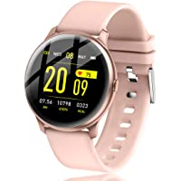 LIGE Smart Watch with Heart Rate Sleep Monitor Bluetooth IP67Waterproof Music Control All-Day Activity Step Counter Smart Bracelet Compatible with Android iOS Phones for Women Men