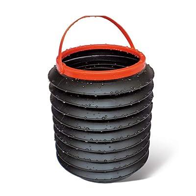 Lorenlli Seau télescopique de Voiture Pliable Seau boîte de Rangement Multi-Fonction de Stockage de Baril de Voiture à l'intérieur de la Voiture Poubelle Peut Portable Noir