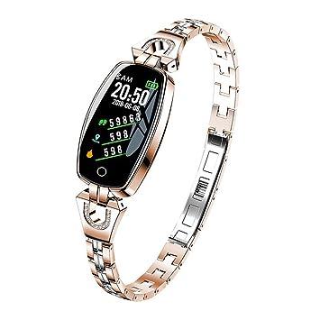 zchg H8 Pulsera Inteligente para Mujeres Monitor de Ritmo Cardíaco Reloj Inteligente Banda Presión Arterial Reloj Inteligente Rastreador de Fitness ...
