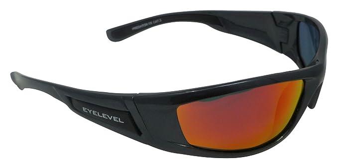 Predator - Gafas de sol polarizadas con espejo rojo Cat-3 UV400