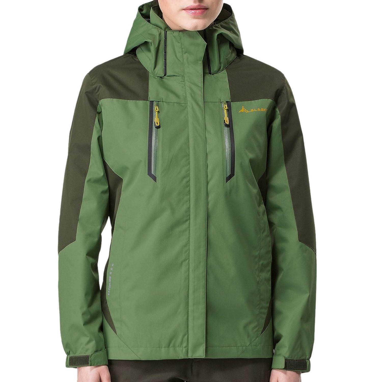 BaiTe Wasserdichte Packaway Jacket Parka Jacke 3XL plus Größe getrimmt Kapuze Parka Frühling und Herbst im Freien Tech Jacke