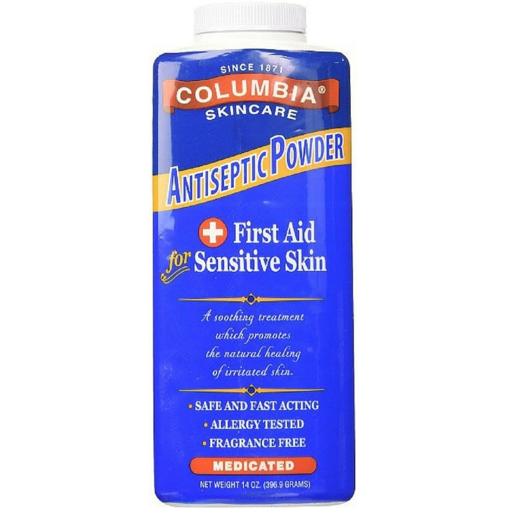 Columbia Skincare Medicated Antiseptic Powder for Sensitive Skin, 14 oz (Pack of 2) by Columbia