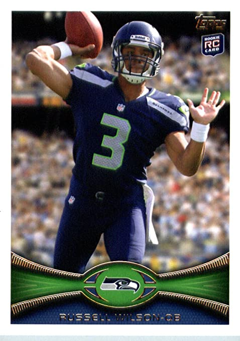 b9bef5e65 2012 Topps Football Card   165 Russell Wilson RC - Seattle Seahawks ...