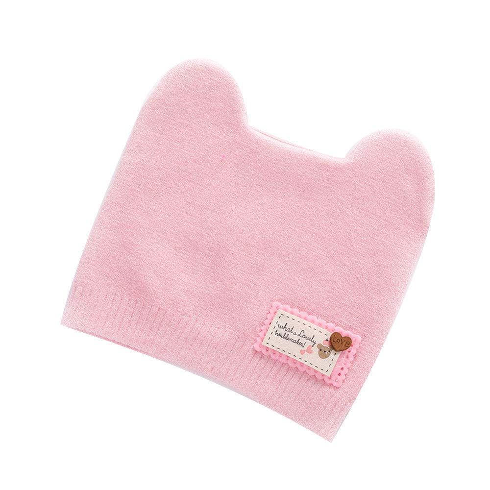 Vinjeely Unisex Baby Solid Color Turban Headgear Hat Winter Infant Baby Girls Boys Knit Beanie Cap