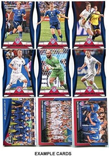 Panini 67-Card USA National Team Soccer Card Set. Men's and Women's Teams! Includes Lots of Stars Like Wambach, Lloyd, Morgan, Solo, Rapinoe, Johnson, Bradley, Dempsey, Howard, Beckerman, Zardes, etc.