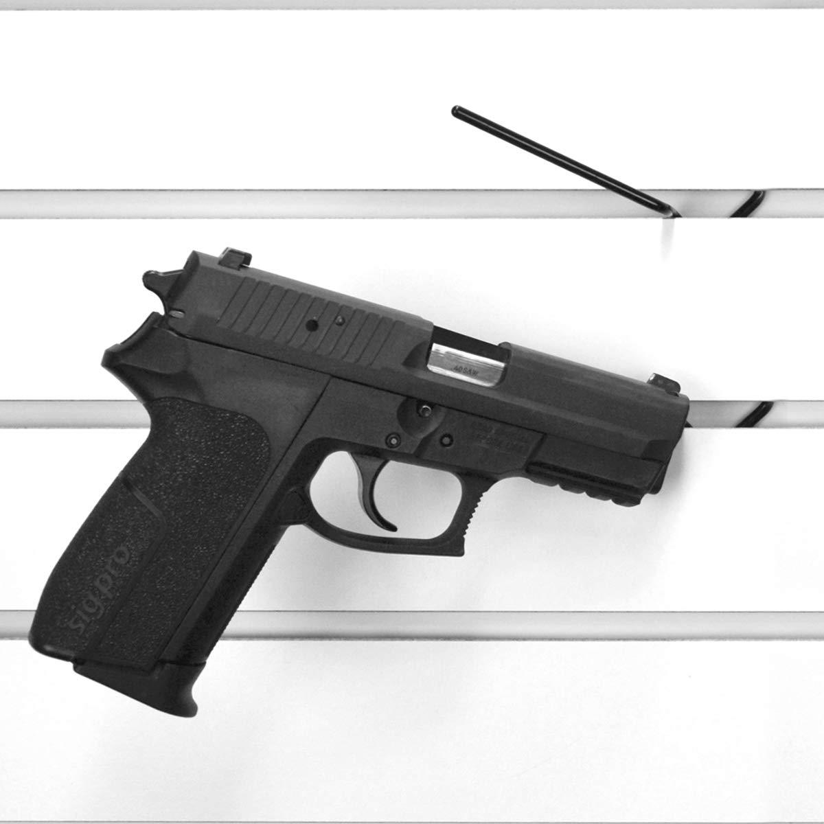 Slatwall Hook for Standard Slatwall Brackets, Pistol Rack Hook for Gun Display