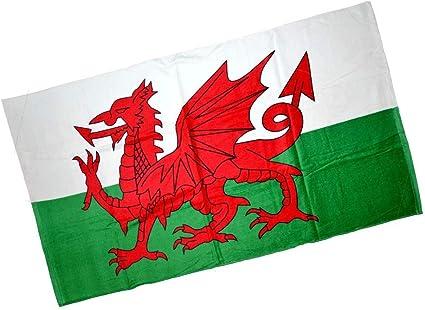 Pendragon Wl11 Toalla de playa deportiva con bandera de dragón galés: Amazon.es: Hogar