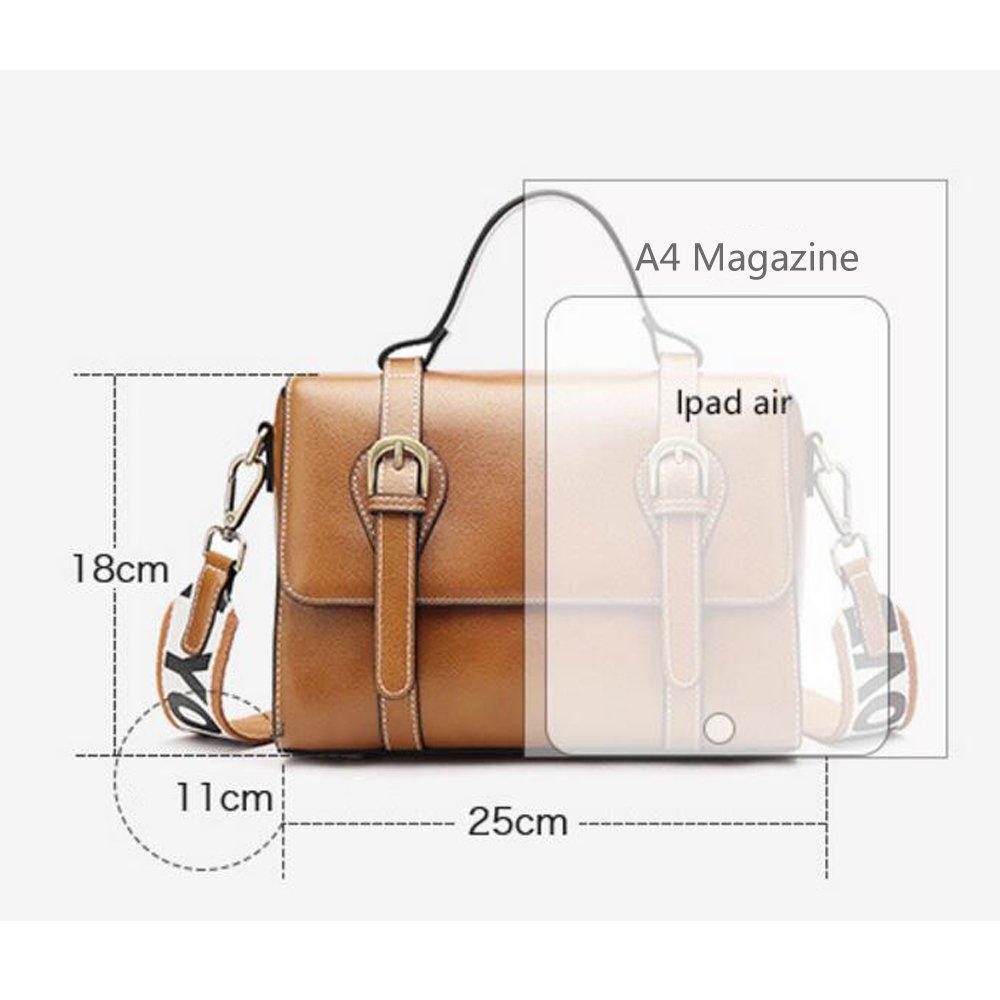 4ee731a14a5de ... JUNBOSI Frau Leder Leder Leder Handtasche Sommer Retro Messenger Bag  Schulter Sling Einfache Handtasche Damen Handtasche