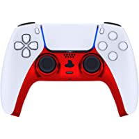 eXtremeRate Chrome Red Glossy Decorative Trim Shell for DualSense 5 Controller, DIY Replacement Clip Shell for PS5…