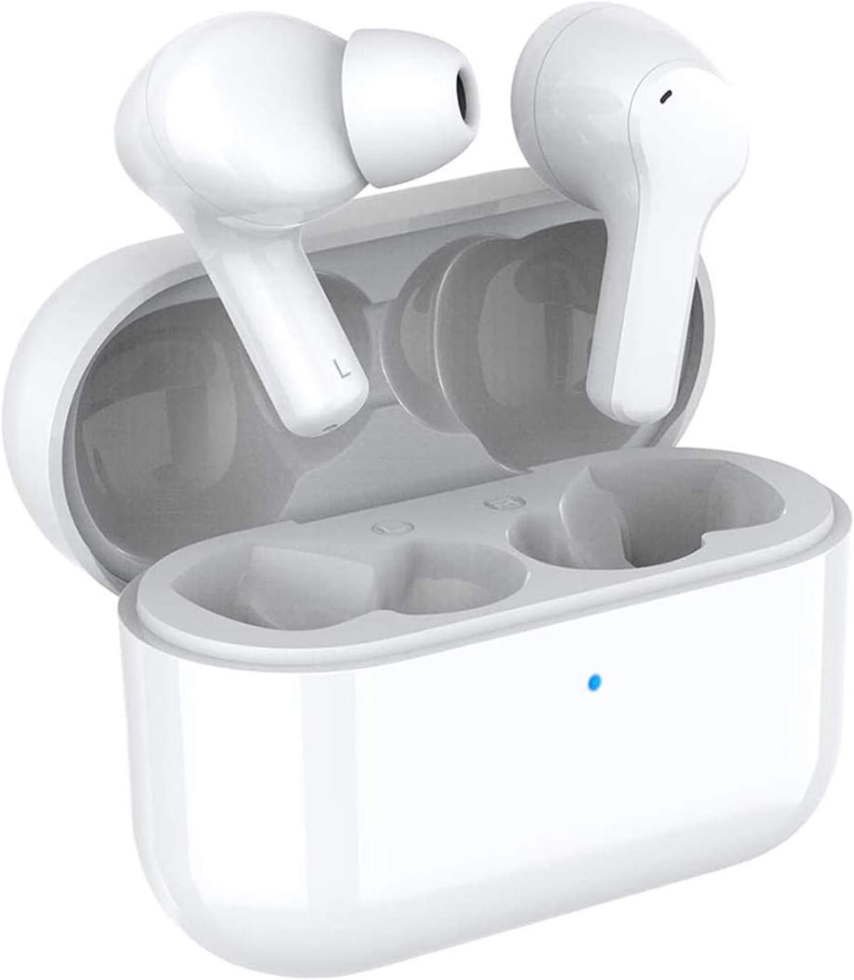 HONOR CHOICE Auriculares Bluetooth TWS Auriculares Auriculares Impermeables con cancelación de Ruido de Doble micrófono Auriculares inalámbricos Verdaderos, compatibles con Android iOS