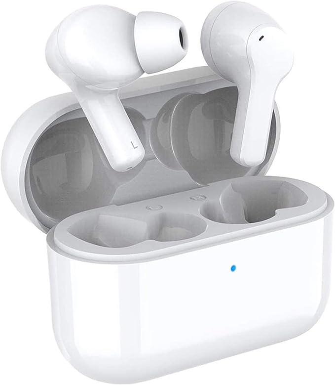 HONOR CHOICE Auriculares Bluetooth TWS Auriculares Auriculares Impermeables con cancelación de Ruido de Doble micrófono Auriculares inalámbricos Verdaderos, compatibles con Android iOS.