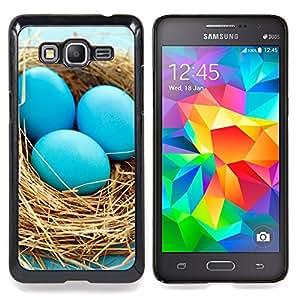 SKCASE Center / Funda Carcasa protectora - Huevos azules Nido;;;;;;;; - Samsung Galaxy Grand Prime G530H / DS