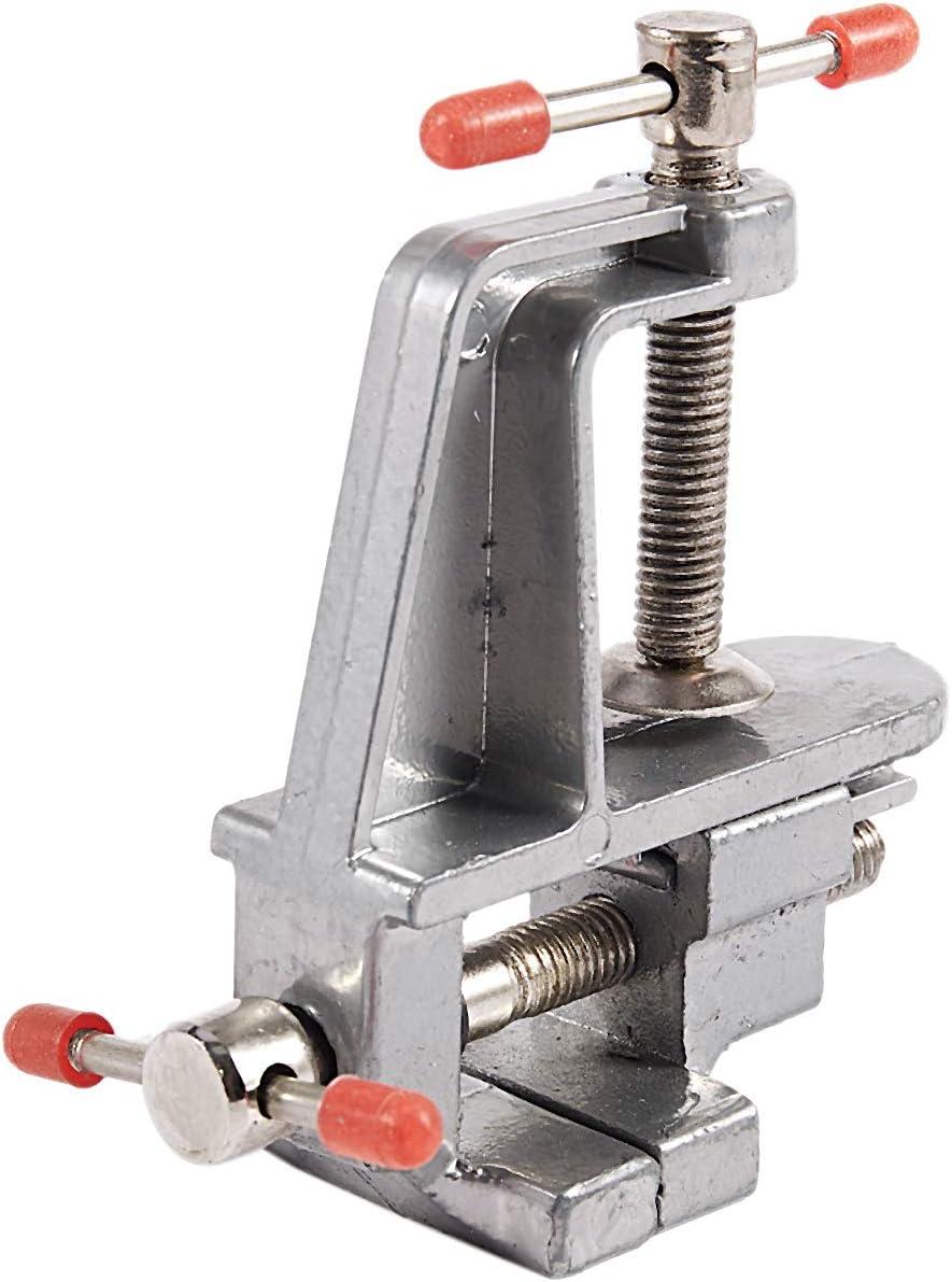 SNOWINSPRING Ptit miniature de pince a bijouterie de table en Aluminium etau detabli Outil Vice de 85mm x 95mm