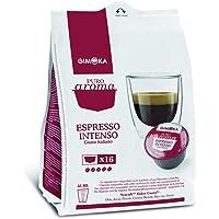 Gimoka Coffee, Pure Aroma Intense espresso, Italian Taste, Coffee Capsule Nescafé Dolce Gusto Compatible, Red, (16 Capsules) 112GR
