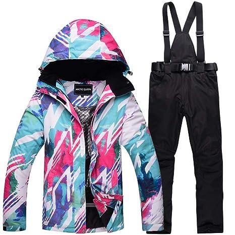 Zjsjacket Traje de Esqui Chaquetas de Nieve para Mujer Traje de esquí Conjunto de Chaquetas y