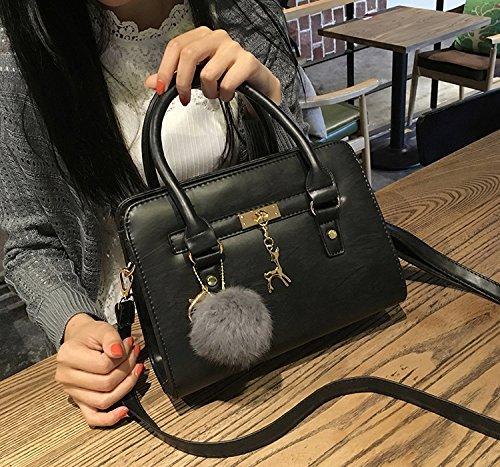 Women Bag Cute Black Top Handle Bag Satchel Trendy for Purse Handbag Shoulder Tote Small Purse aa4WPgFC