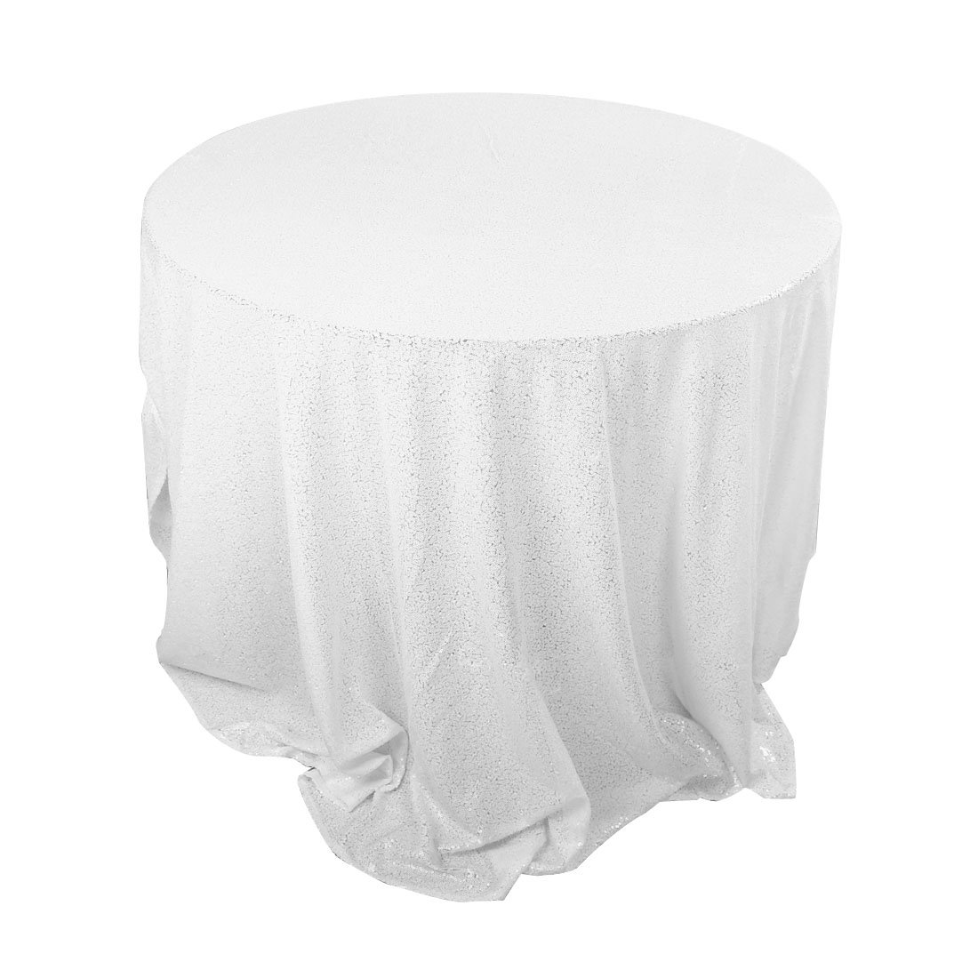 uxcell Piccocasa Polyester Round Sparkle Sequin Tablecloth Cover Water Oil Resistant 48 for Wedding Party Decor a17021000ux0078