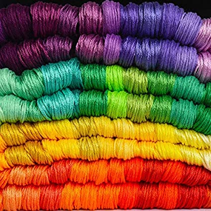 B YOYORI Rainbow Color Embroidery Cross Stitch Threads Bracelets Crafts Floss 136//140pc