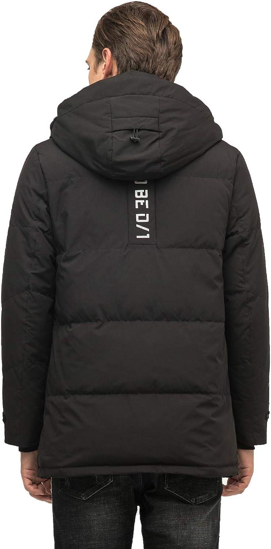 Sutu Mens Down Jacket Hooded Duck Down-Filled Coat Winter Warm