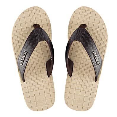 13e420610d88 KIIU Mens Flip Flops Athletic Summer Thong Sandals Lightweight Beach  Slipper (8.5M Beige)