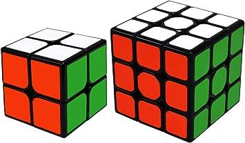 TOYESS Speed Cube Set Cubo de Velocidad 3x3 Stickerless+Cubo Mágico 2x2, Rompecabezas Puzzle Juguetes para Adulto & Niños(2 Pack): Amazon.es: Juguetes y juegos
