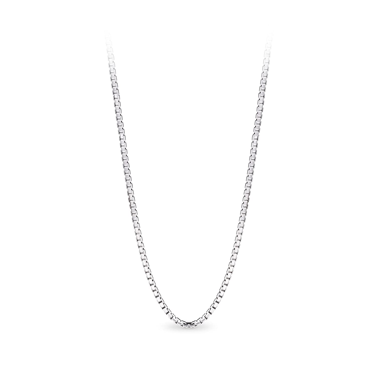 T400 Jewelers 925 Sterling Silver 1.5mm Box Chain Italian Necklace TB2542Y01A