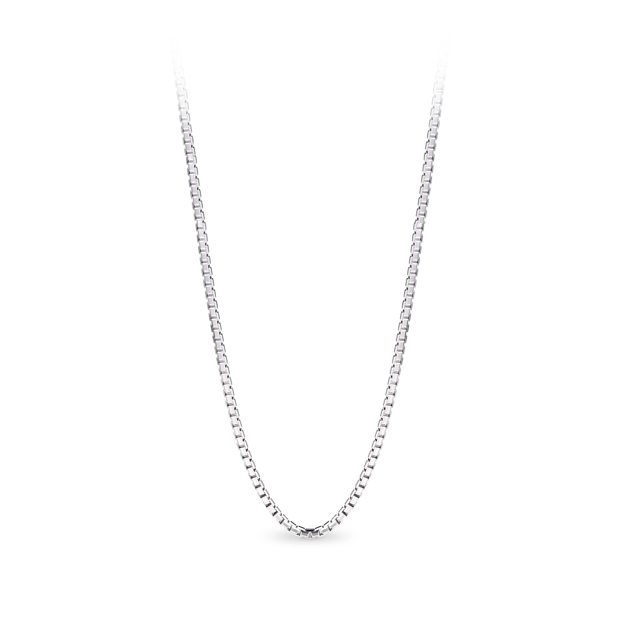 T400 Jewelers 925 Sterling Silver 1.5mm Box Chain Italian Necklace, 24''