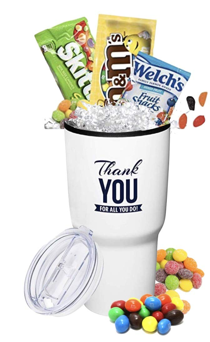 6-Piece Thank You Candy Tumblers/Admin Office Gifts/Holiday Hershey Gift Mug/Teacher Appreciation Gift/Corporate Thank You Gift/Nurse's Day Gifts/Employee Appreciation Gifts