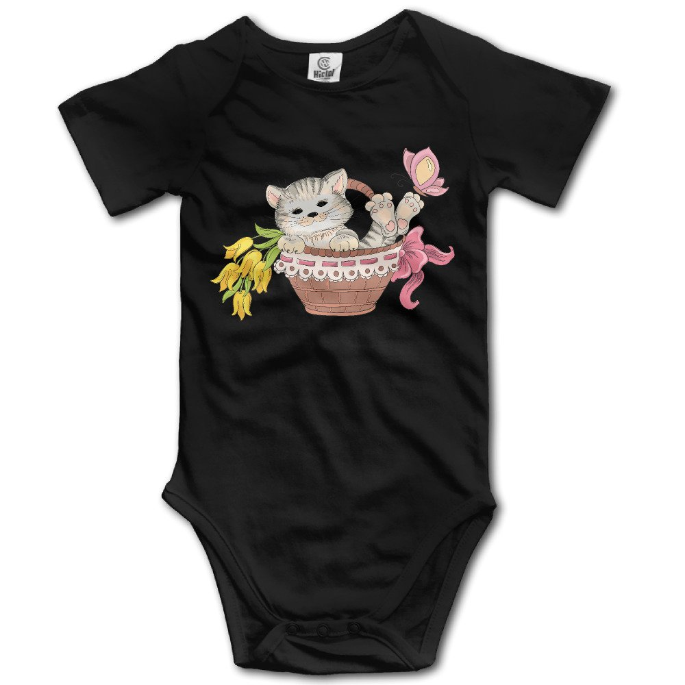EpE The Cute Cat In The Basket Jumpsuit Romper Climbing Clothes For Baby Black
