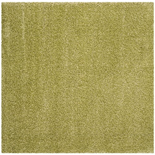 Safavieh Santa Monica Shag Collection SGN725-5252 Green Plush Square Area Rug (6'7″ Square) Review