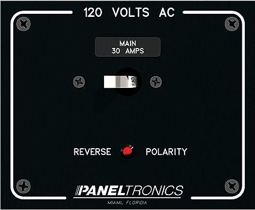 Paneltronics Standard Panel AC Main Double Pole w 30Amp CB Reverse Polarity Indicator