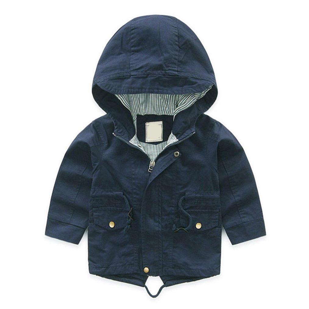 daqinghjxg Girls Cartoon Boys Coat Hoody Children Outerwear Baby Windbreaker