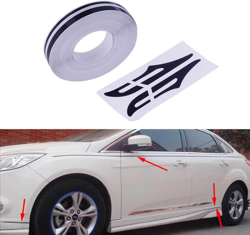 Amazon Com Pme 12mm 0 5 Pinstripe Pinstriping Pin Stripe Decals Vinyl Tape Stickers For Cars Black Automotive