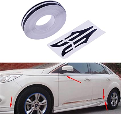 """WHITE 12mm 1//2/"""" Roll PinStripe PinStriping Double Lines Tape Vinyl Car STICKER"""