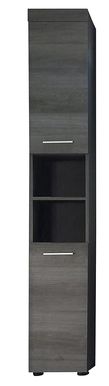 Furnline Bathroom Tall Cabinet with Storage, Smoky Silver 1581-101-21