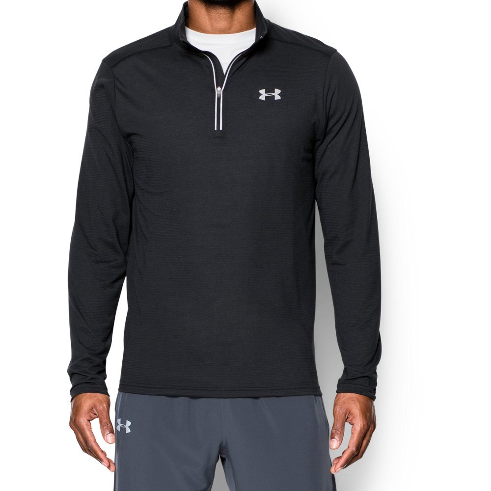 Under Armour Men's Streaker Run 1/4 Zip , Black (001)/Reflective, Small by Under Armour (Image #1)
